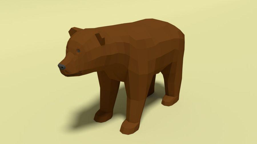 Pakiet zwierząt leśnych Low Poly royalty-free 3d model - Preview no. 2