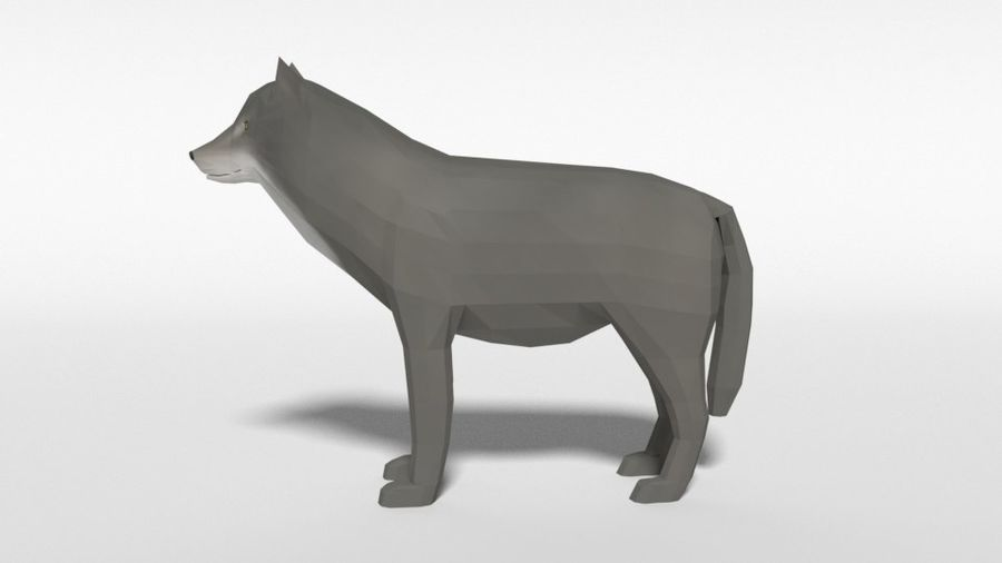 Pakiet zwierząt leśnych Low Poly royalty-free 3d model - Preview no. 14