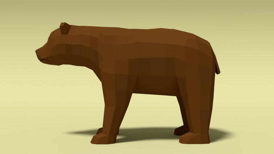 Pakiet zwierząt leśnych Low Poly royalty-free 3d model - Preview no. 3