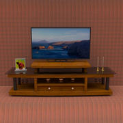 TV table With Smart TV 3d model