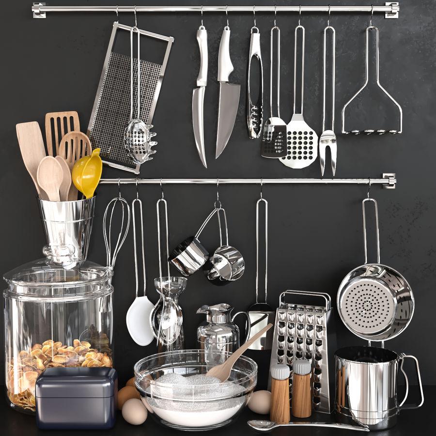Trivia voor de keuken 5 royalty-free 3d model - Preview no. 1