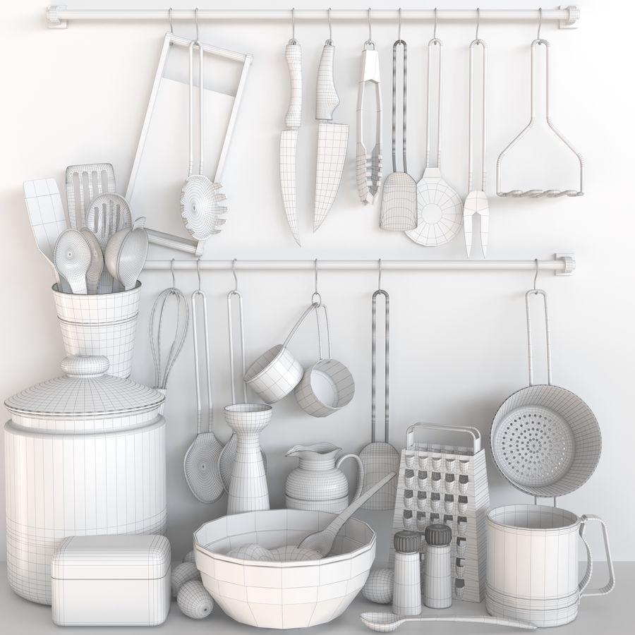 Trivia voor de keuken 5 royalty-free 3d model - Preview no. 2