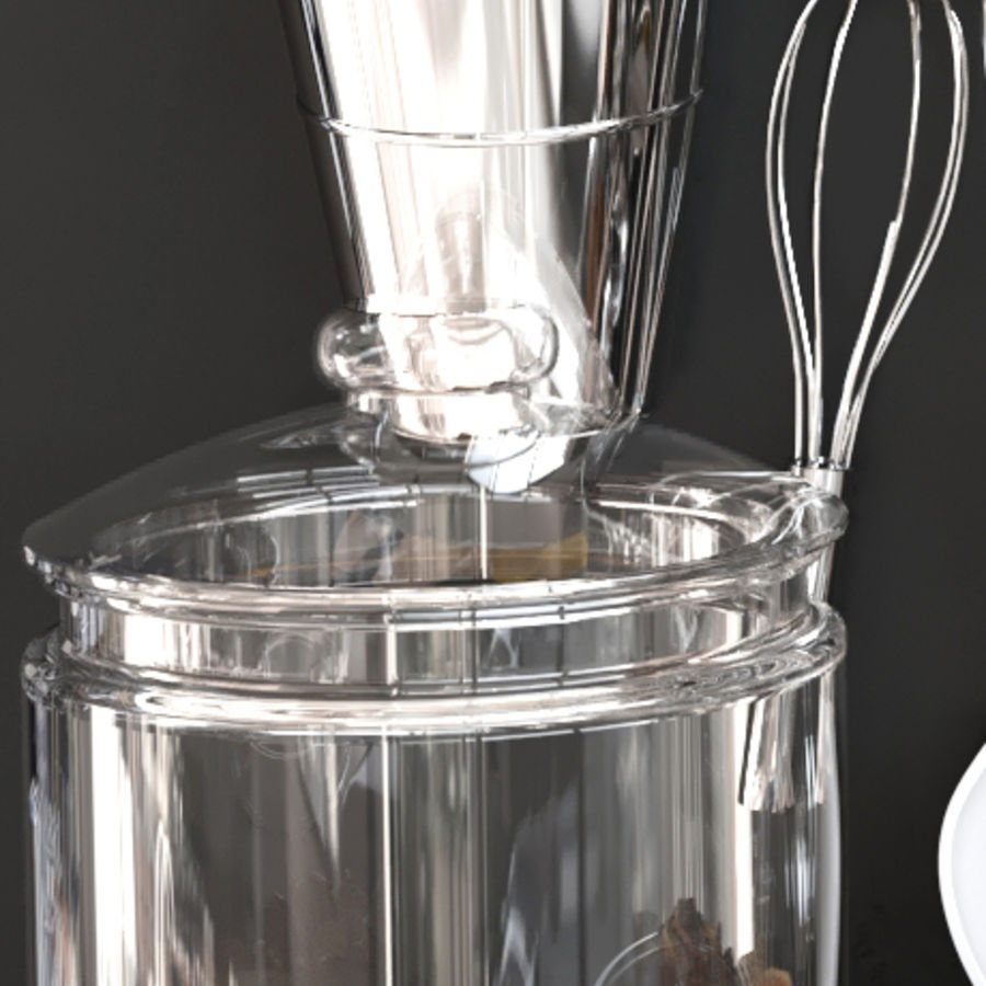 Trivia voor de keuken 5 royalty-free 3d model - Preview no. 4