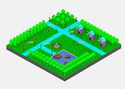 Simple Cartoon Park Package 3d model