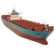 Грузовой корабль 300 м Низкополигональный 3d model