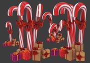 Julgodisrotting med gåvor 3D-modell 3d model