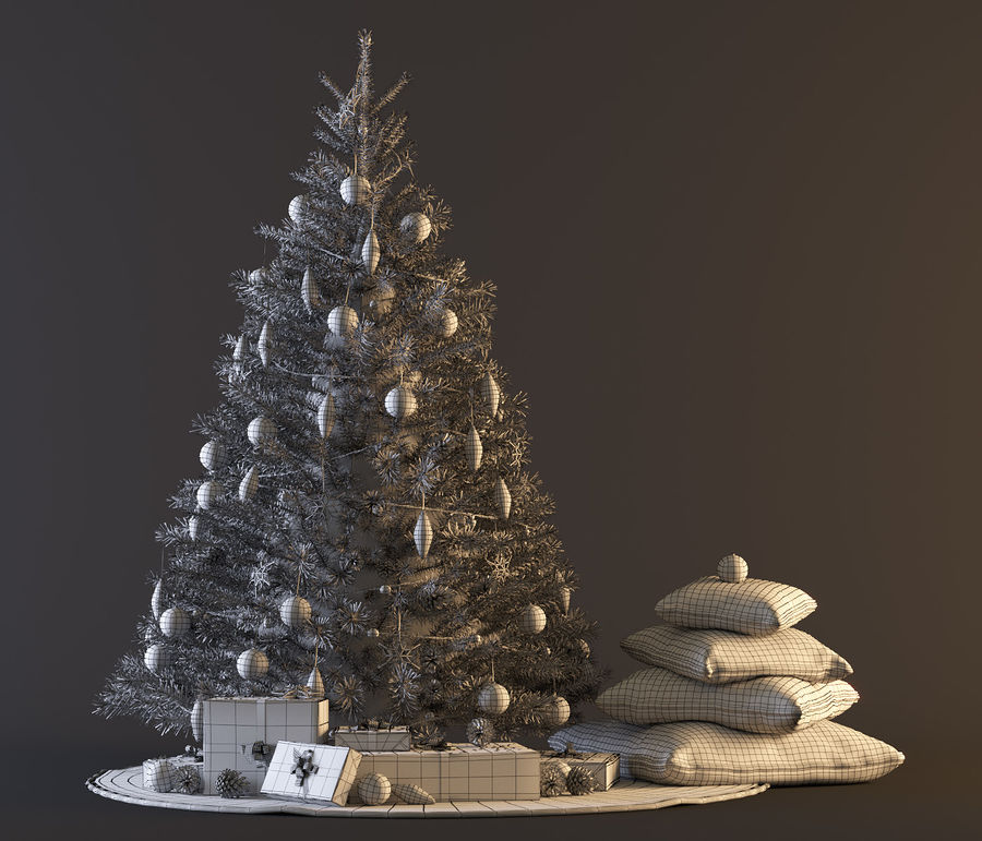 árvore de Natal royalty-free 3d model - Preview no. 9