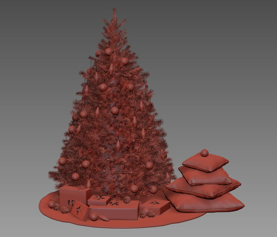 árvore de Natal royalty-free 3d model - Preview no. 13
