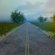 破壊された道路セット黙示録 3d model