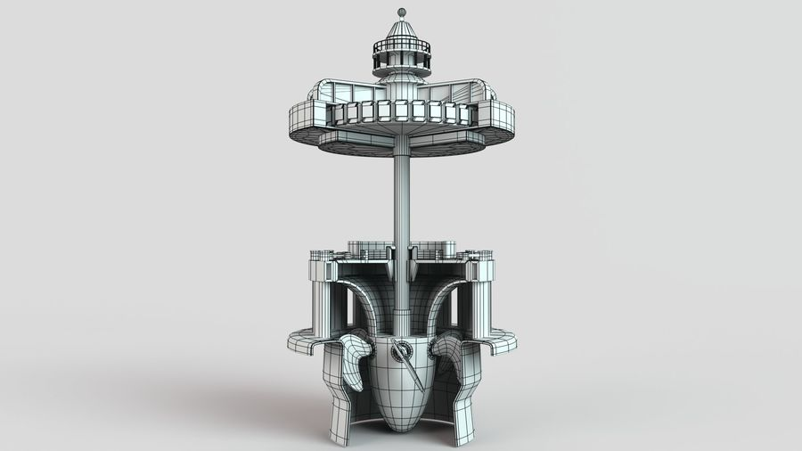 水力発電所 royalty-free 3d model - Preview no. 8