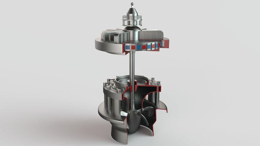 水力発電所 royalty-free 3d model - Preview no. 2
