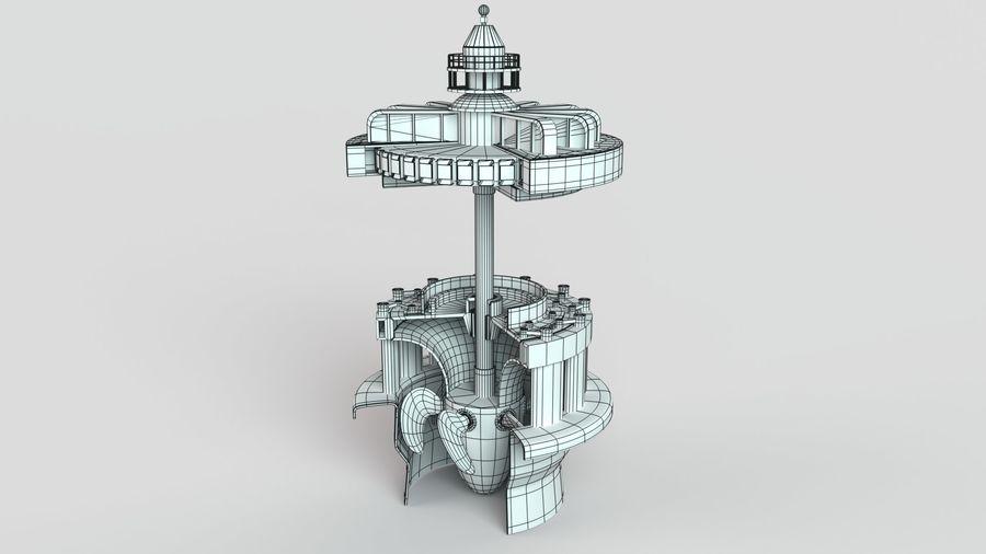 水力発電所 royalty-free 3d model - Preview no. 10