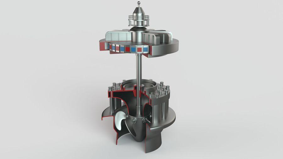 水力発電所 royalty-free 3d model - Preview no. 3