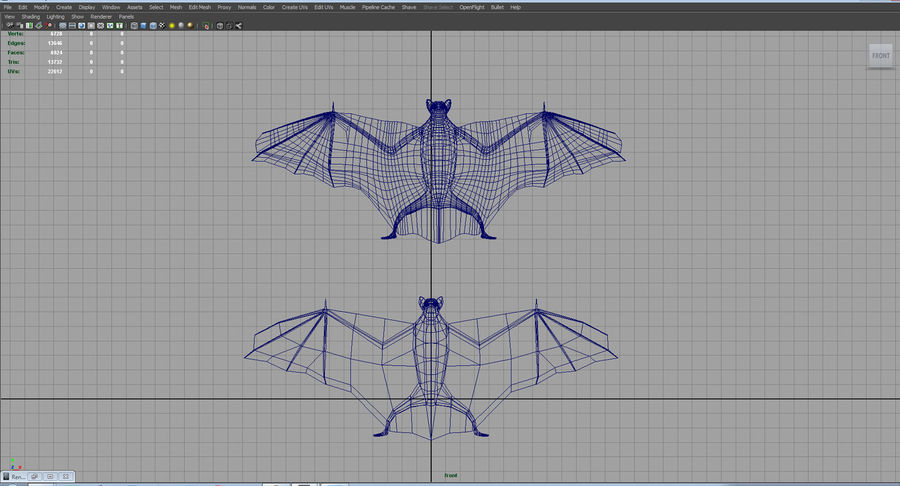 bat royalty-free 3d model - Preview no. 7