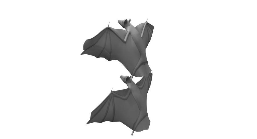 bat royalty-free 3d model - Preview no. 4