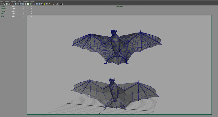 bat royalty-free 3d model - Preview no. 8