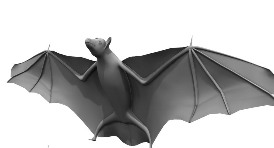 bat royalty-free 3d model - Preview no. 2