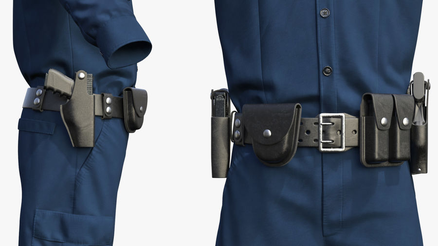 NYPD polisuniform royalty-free 3d model - Preview no. 14