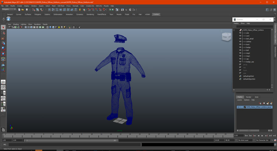 NYPD polisuniform royalty-free 3d model - Preview no. 26