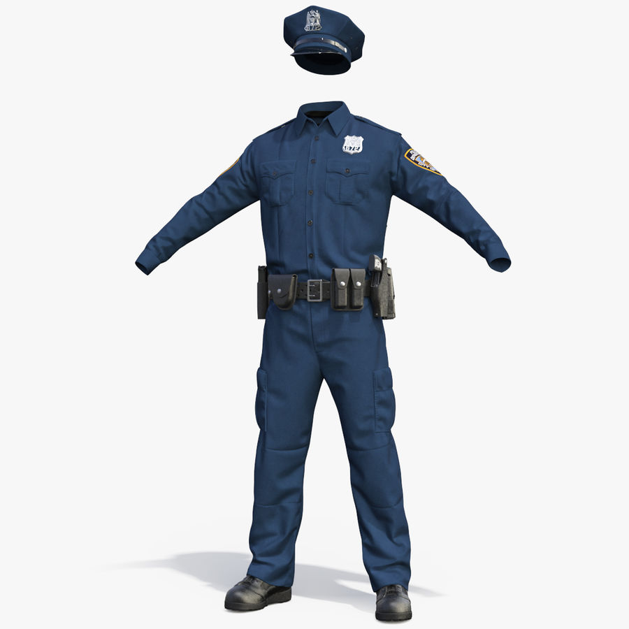 NYPD polisuniform royalty-free 3d model - Preview no. 1