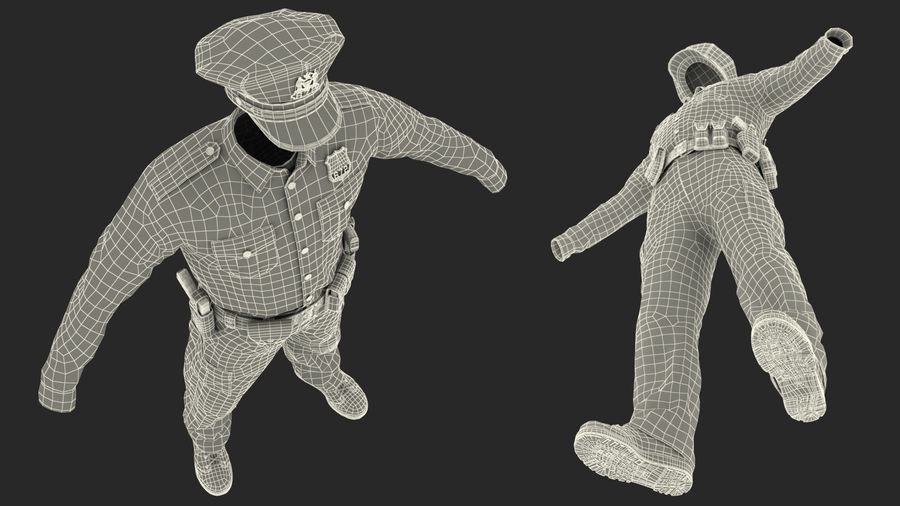 NYPD polisuniform royalty-free 3d model - Preview no. 30