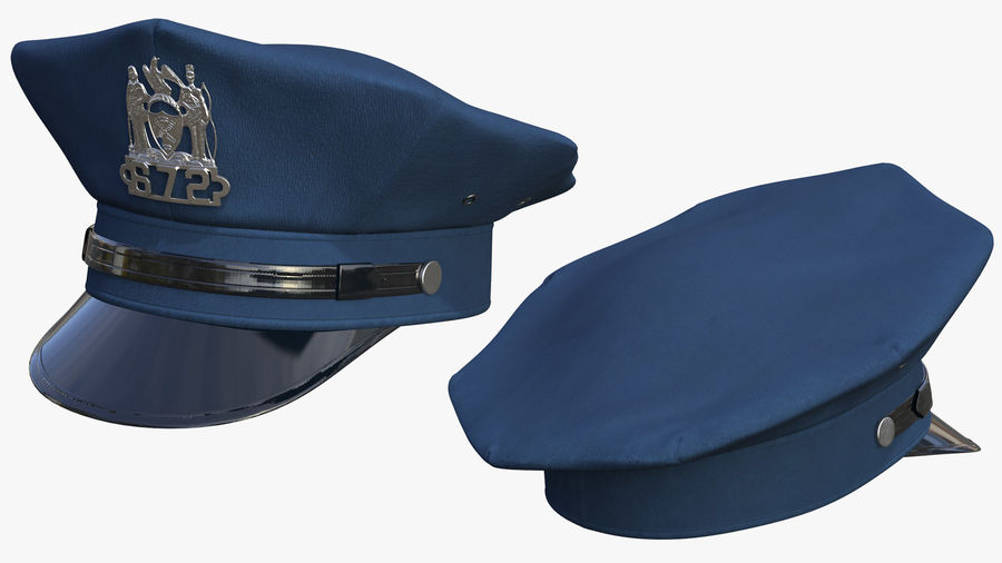 NYPD polisuniform royalty-free 3d model - Preview no. 5