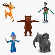 Cartoon Characters Collection 2 3d model