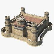 Orta Çağ kalesi 3d model
