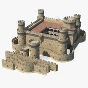 Zestaw średniowiecznego zamku 3d model
