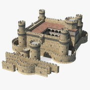 Conjunto de castillo medieval modelo 3d