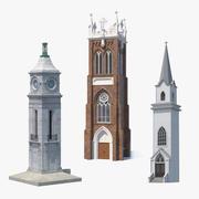 Coleção Torres 3d model