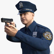 NYPD polisinriktar Pose päls 3d model