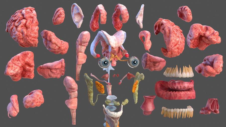 Анатомия мужского тела royalty-free 3d model - Preview no. 9