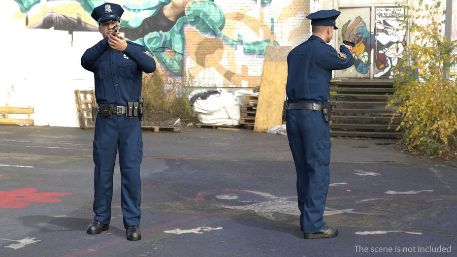NYPD-polisens päls riggade royalty-free 3d model - Preview no. 4