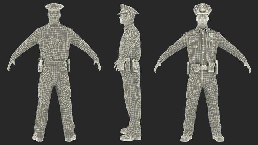 NYPD-polisens päls riggade royalty-free 3d model - Preview no. 38