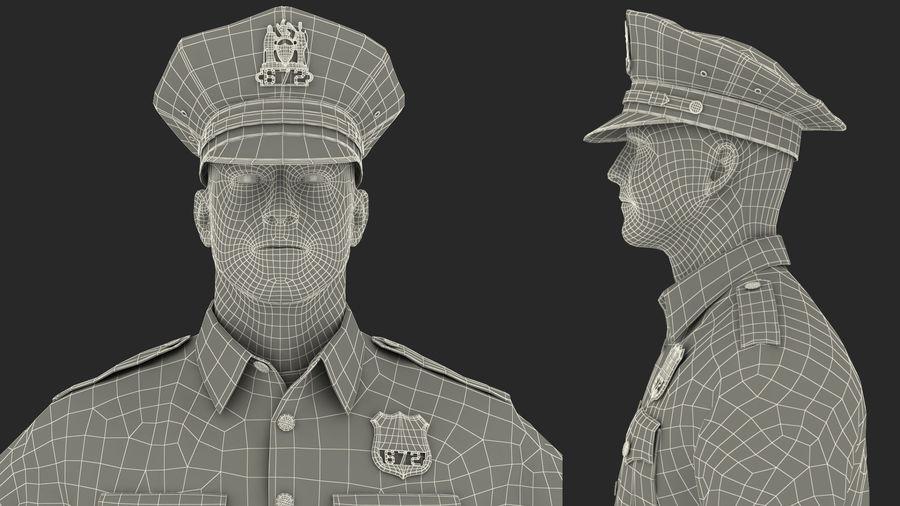 NYPD-polisens päls riggade royalty-free 3d model - Preview no. 31