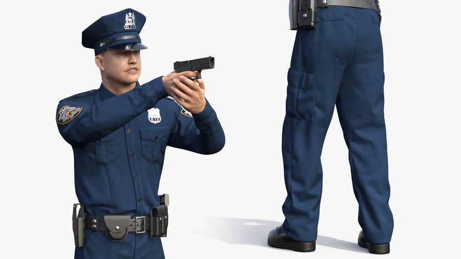NYPD-polisens päls riggade royalty-free 3d model - Preview no. 11