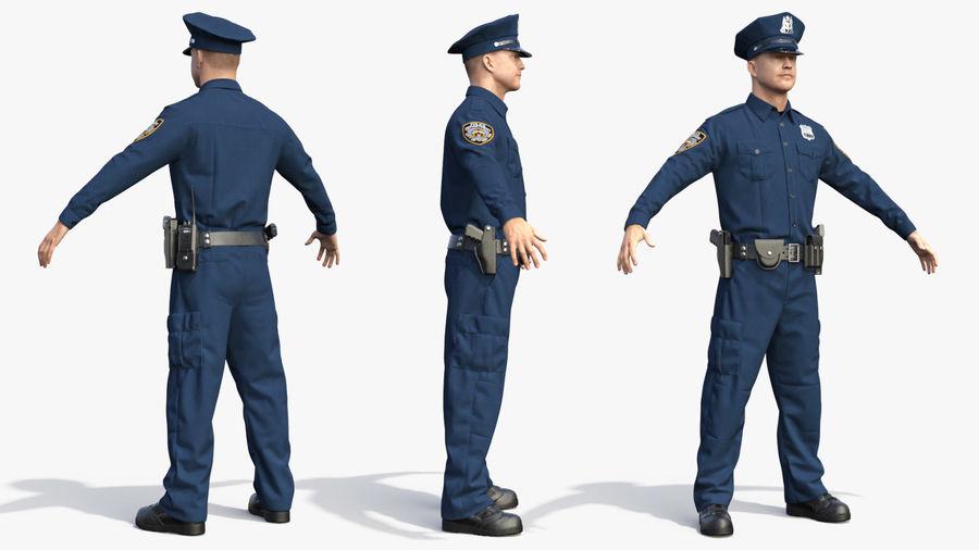 NYPD-polisens päls riggade royalty-free 3d model - Preview no. 25