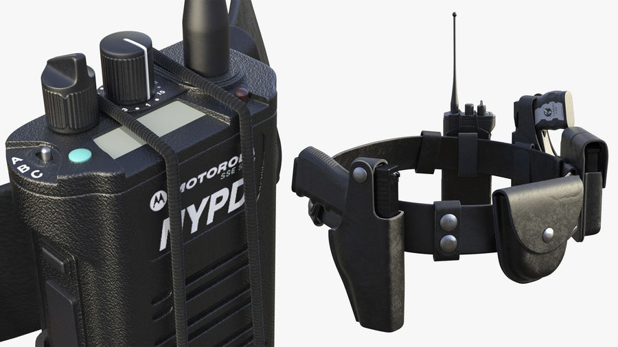 NYPD-polisens päls riggade royalty-free 3d model - Preview no. 15