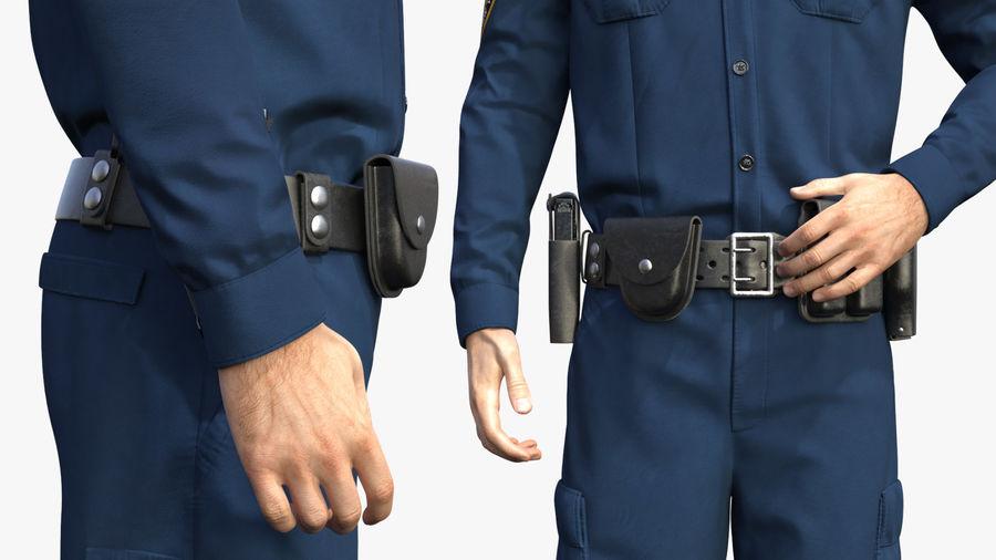 NYPD-polisens päls riggade royalty-free 3d model - Preview no. 17