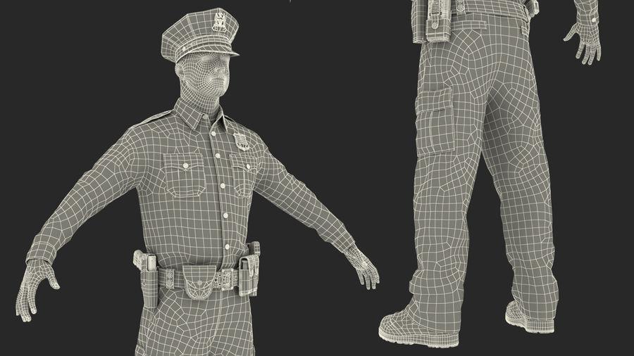 NYPD-polisens päls riggade royalty-free 3d model - Preview no. 32
