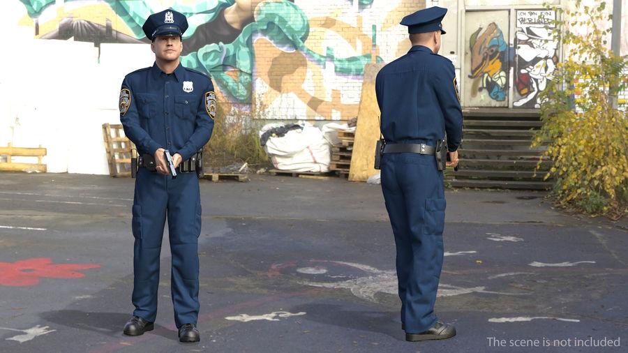 NYPD-polisens päls riggade royalty-free 3d model - Preview no. 5