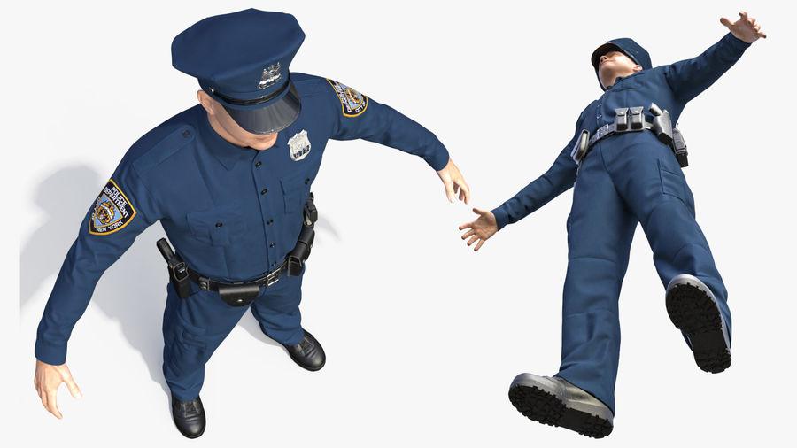 NYPD-polisens päls riggade royalty-free 3d model - Preview no. 22