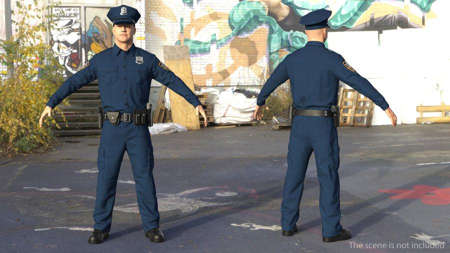 NYPD-polisens päls riggade royalty-free 3d model - Preview no. 6