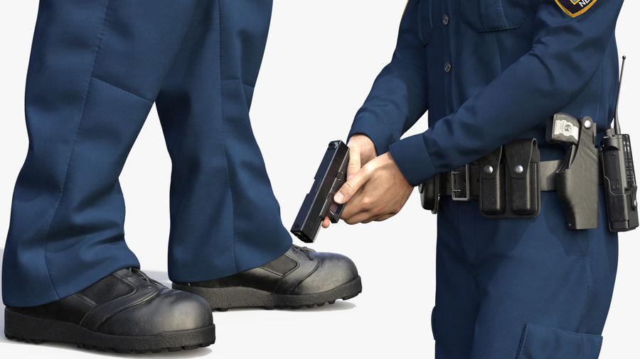 NYPD-polisens päls riggade royalty-free 3d model - Preview no. 13