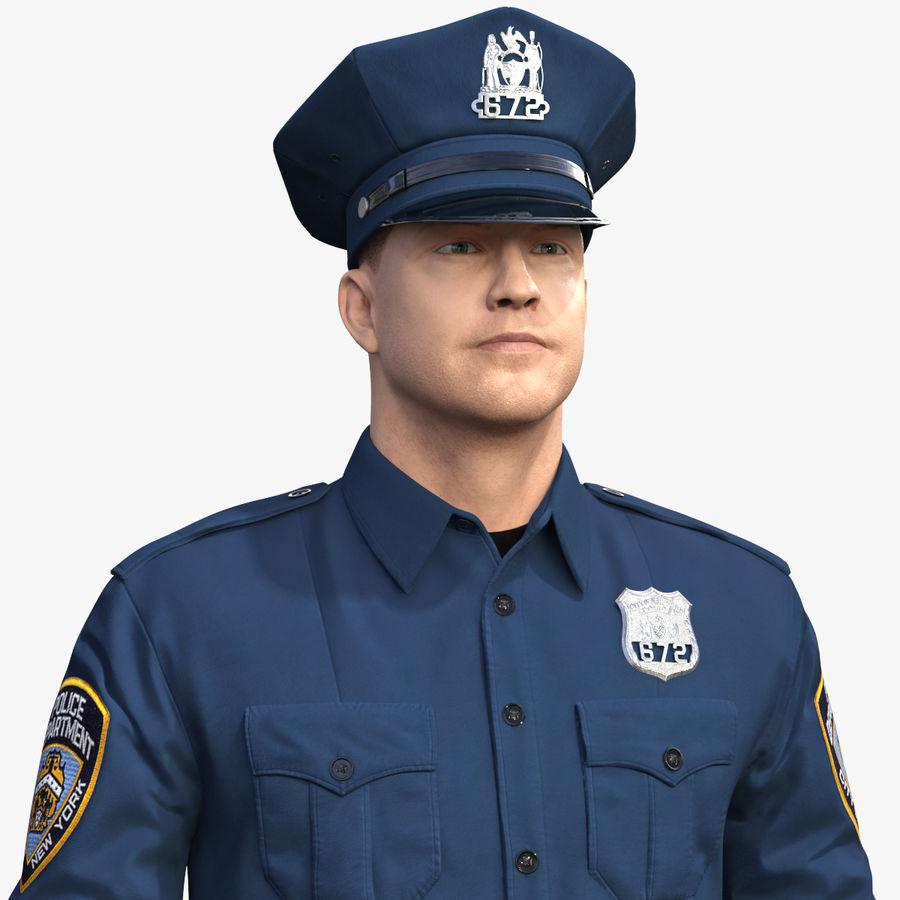 NYPD-polisens päls riggade royalty-free 3d model - Preview no. 1
