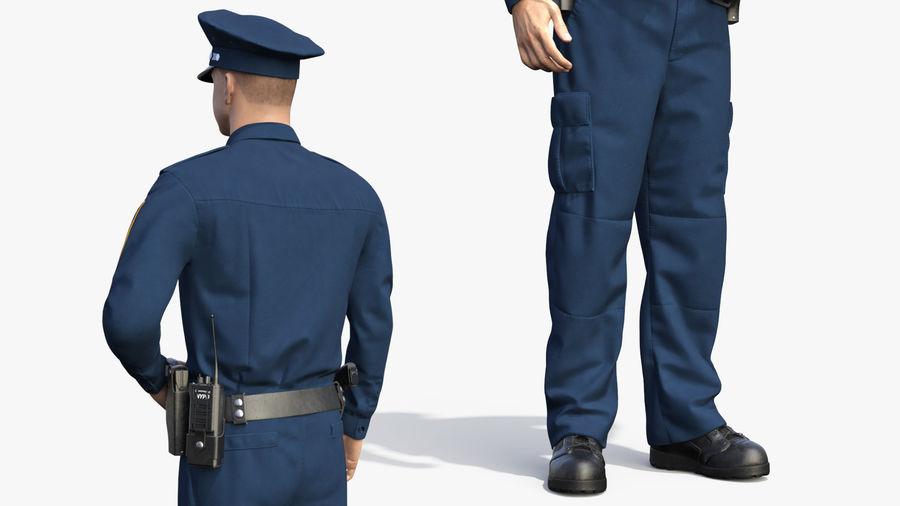 NYPD-polisens päls riggade royalty-free 3d model - Preview no. 12