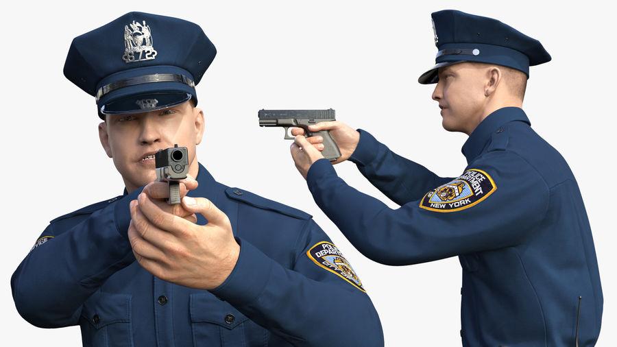 NYPD-polisens päls riggade royalty-free 3d model - Preview no. 8