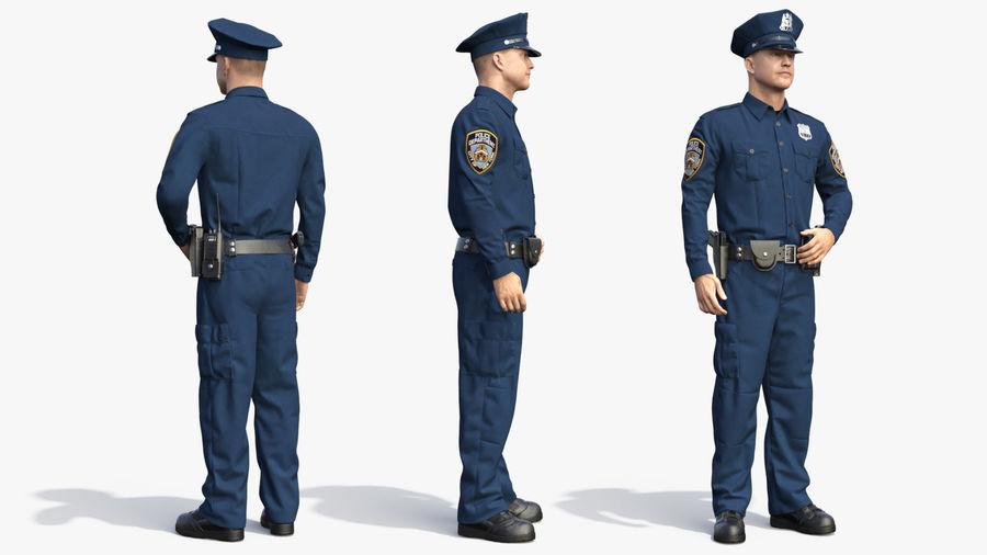NYPD-polisens päls riggade royalty-free 3d model - Preview no. 10