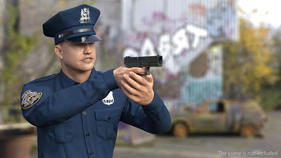 NYPD-polisens päls riggade royalty-free 3d model - Preview no. 3